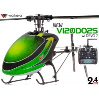 WALKERA NEW V120D02S Flybarless 6-Axis-Gyro System 6CH Helicopter with DEVO 6S,7,8S,10 or 12S Transmitter RTF (Green) - 2.4GHz