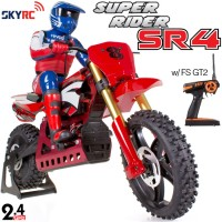 SKYRC (SK-SR4-R) Super Rider SR4 1/4 Scale RC Bike with electronic gyro ARTR (Red) - 2.4GHz (CS-0297)