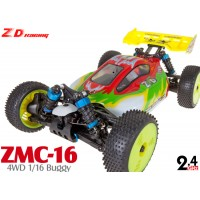 ZD Racing (ZD-16421-R) ZMC-16 4WD 1/16 Scale Brushed Electric Racing Buggy RTR (Red) - 2.4GHz